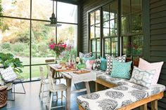 Breezy Porches and Patios. Modern Cottage Screened Porch