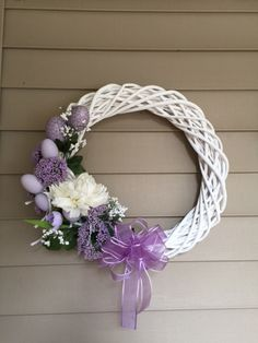 Just finished my Easter wreath.by Alana Sise. Wreath Crafts, Diy Wreath, Ornament Wreath, Grapevine Wreath, Easter Wreaths, Holiday Wreaths, Diy Ostern, Summer Wreath, How To Make Wreaths
