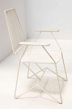 Mathieu Matégot, Enameled Iron Chair for Ateliers Matégot, c1950