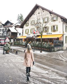 6 Dreamy Winter Destinations in Europe (With Travel Guides Downtown Gstaad Switzerland Quaint Swiss Town Gstaad Switzerland, Switzerland In Winter, Switzerland Vacation, Swiss Alps Skiing, Winter Destinations, Travel Destinations, European Destination, Winter Travel, Oh The Places You'll Go