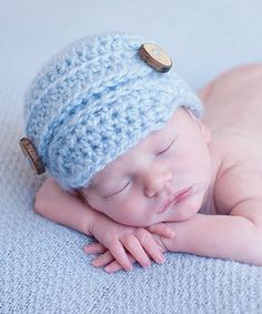 Another great find on #zulily! Bits N Baubles BeBe Blue & Tan Knit Newsboy Hat by Bits N Baubles BeBe #zulilyfinds