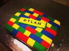 Lego fondant cake.
