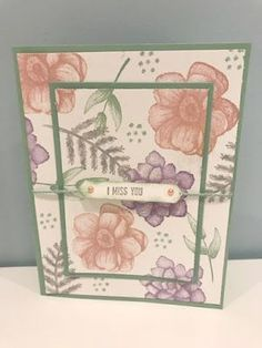 Another Painted Seasons Handmade Card Making, Handmade Birthday Cards, Flower Stamp, Flower Cards, Miss You Cards, Friendship Cards, Mothers Day Cards, Card Sketches, Color Card