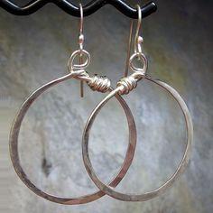 Sterling Silver Hoop Earrings Dangle Large  by LavenderCottage, $35.00