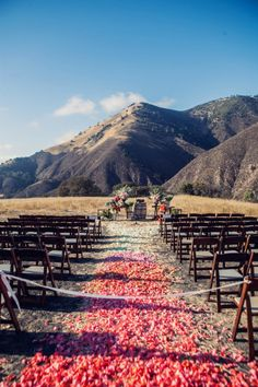 ombre petal aisle Photography by White Haute Photography