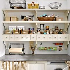 Love the little drawers, could make them clear. Paper towel holder could be in the wall.