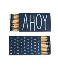 Ahoy Matches $10