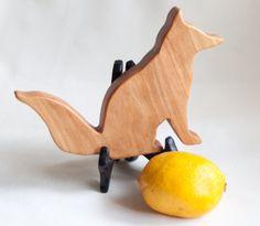 Mini fox Cutting board crafty fox shaped Wood by jobemacstudios