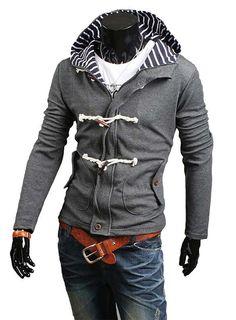 Men's Style: The Evans Duffel Hoodie Grey!