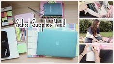 Back to School Supplies Haul 2014! - YouTube