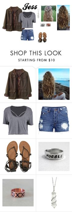 """""""Jess"""" by haileyscomet95 ❤ liked on Polyvore featuring Barbour, Boohoo, H&M, Billabong and Sharon Khazzam"""