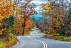 Wisconsin: Images of the Badger State - The Atlantic A winding stretch of Wisconsin Highway 42, photographed near the community of Northport, in Door County #  Nejdet Duzen / Shutterstock