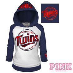6200c0568 Minnesota Twins Victoria s Secret PINK® Raglan Pullover Hoodie - MLB.com  Shop Detroit Tigers