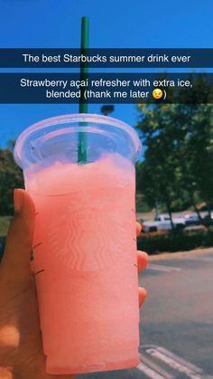 Starbucks Summer Drinks, Healthy Starbucks, Smoothie Drinks, Smoothies, Copo Starbucks, Starbucks Secret Menu Drinks, Coffee Drink Recipes, Coffee Drinks, How To Order Starbucks