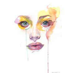 Beautiful watercolor paintings by Artist Marion Bolognesi Watercolor Art Face, Watercolor Portraits, Watercolor Paintings, Watercolors, Watercolor Canvas, Watercolor Artists, Print Artist, Artist Painting, Painting & Drawing