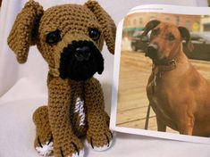 Crochet Rhodesian Ridgeback Dog Custom Made to Look Like