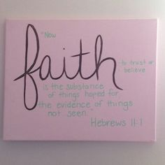 Name canvas... I have these hanging up in my daughter's room... Got the idea as I was flipping through a baby name book in the Christian book store that gave a definition and bible verse for each name