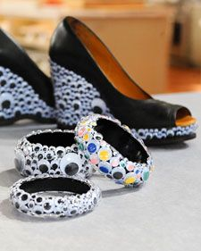 halloween: Halloween - Fun with Googly Eyes. Love the shoes!!!  Perfect to wear to school party with black dress!!