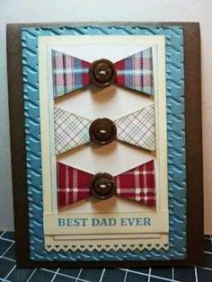 Bows and buttons = a card