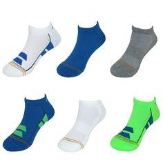 Gold Toe Boys' Color Block No Show Liner Socks (6 Pair)