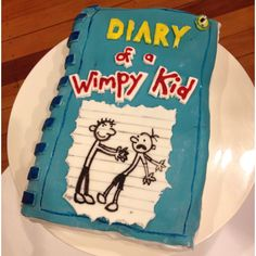 My attempt at Diary Of a Wimpy Kid cake. Georgies 7th Birthday. Made with love!!