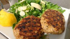 Grandma's Famous Salmon Cakes Recipe - Simple and tasty pan fried salmon cakes! Just salmon, eggs, onion and black pepper. Mix it all up, shape into patties and you are ready to go! Great with macaroni and cheese. Fish Recipes, Seafood Recipes, Cooking Recipes, Cooking Tips, Cake Recipes, Recipies, Seafood Meals, Cooking Pork, Cooking Turkey