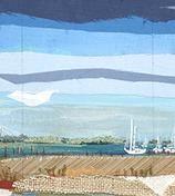 Karin Olah, original fine art paintings with fabric and mixed media | Land & Sea