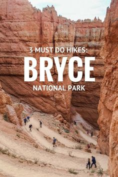 3 Must Do Hikes in Bryce Canyon National Par. You'll want to add these fun trails to your Utah travel itinerary. 3 Must Do Hikes in Bryce Canyon National Par. You'll want to add these fun trails to your Utah travel itinerary. Bryce National Park, Us National Parks, Canyonlands National Park, Grand Canyon National Park, Arches National Park Hikes, Monument National, Snow Canyon State Park, National Park Camping, Capitol Reef National Park