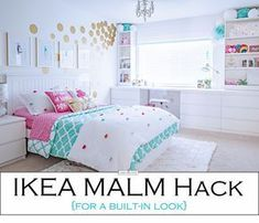 Tween girl bedroom makeover in turquoise and white. Budget-friendly with lots of… Tween girl bedroom makeover in turquoise and white. Budget-friendly with lots of storage with built-ins around window Pin: 2400 x 1588 Blue Girls Rooms, Room Decor For Teen Girls, Teenage Girl Bedrooms, Teen Girl Rooms, Little Girl Rooms, Tween Room Ideas, Girls Bedroom Ideas Ikea, Bedroom Girls, Girls Room Desk