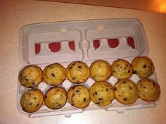 upcycled egg carton | Make This / Mini Muffin upcycled egg carton with cute wrapping!