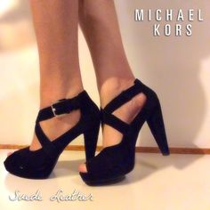 MK Suede Leather Pumps Barely worn!  Near NEW condition.  Better photos soon!  Michael Kors Shoes