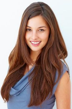 Long layered haircut for straight hair. Suited for those with a round oval or square face.