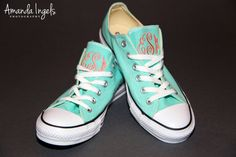Hey, I found this really awesome Etsy listing at https://www.etsy.com/listing/188946942/mint-converse-monogram