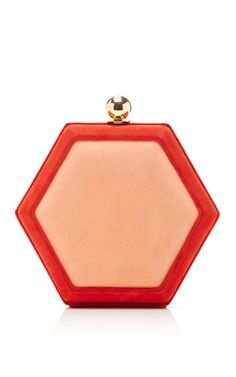 Shop Hex Clutch by Oscar de la Renta Now Available on Moda Operandi