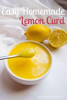 Very easy no lump lemon curd! Delicous! #desserts #lemons