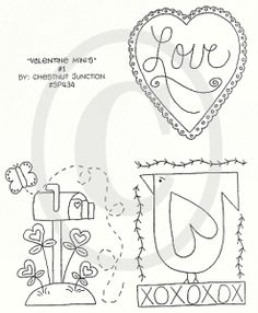 stitchery | Home :: • Patterns :: Stitchery Patterns :: Valentines :: Valentine ...