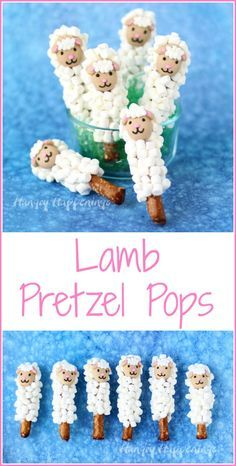 Make some fun Easter chocolates for your kids. These Lamb Pretzel Pops are super cute and so easy to make.