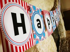 Dr. Seuss Happy Birthday Banner MODERN BEBE DESIGNS. $16.00, via Etsy.
