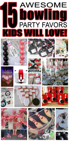 Strike up some unique bowling party favor ideas for kids. Fun and easy bowling birthday party favor ideas for boys and girls. From goody bags to bowling pin cookies make your child's next bowling birthday a hit. Kids Bowling Party, Bowling Party Themes, Fun Bowling, Bowling Tips, Party Favors For Kids Birthday, 4th Birthday Parties, Birthday Bash, Kegel, Partys