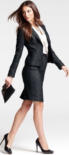 Love ANN TAYLOR suits - just enough classic with slight trend - perfect for a traditional interview.