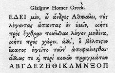 Specimen of Wilson's Greek Type Homer Greek, Greek Font, Old Greek, Letter Form, Desenho Tattoo, Greek Quotes, Handwriting, Tatoos, Texts