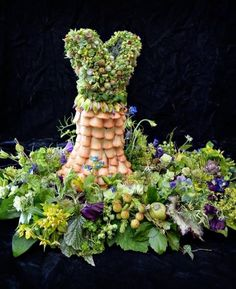 Fantastic miniature botanical dress by the uber talented Francoise Weeks