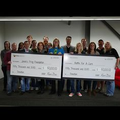 """We were honored to host Jaxon's FROG Foundation as well as Battle For A Cure...the 2 charities we supported during this year's """"Black Friday Bootcamp."""" As you can see from the picture, we were able to reach our goal and donate $100,000 in total. Thanks to everyone who participated!  To learn more about Jaxon's FROG Foundation as well as Battle for the Cure, be sure to visit: www.jaxonsfrogfoundation.com and... www.battle4acure.org"""