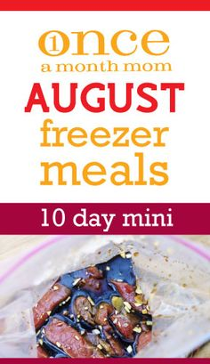 10 Day Mini Menu: recipe cards, grocery lists, step-by-step cooking day instructions and labels complete with freezing directions and customizable serving sizes.