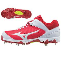 Womens 159060: Mizuno 9-Spike Swift 5 Women S Metal Fastpitch Softball Cleats - Red White - 7 -> BUY IT NOW ONLY: $74.95 on eBay!