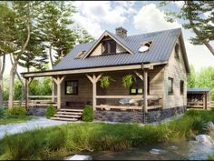 Home Fashion, Cabin, 3d, House Styles, Home Decor, Decoration Home, Room Decor, Cabins, Cottage