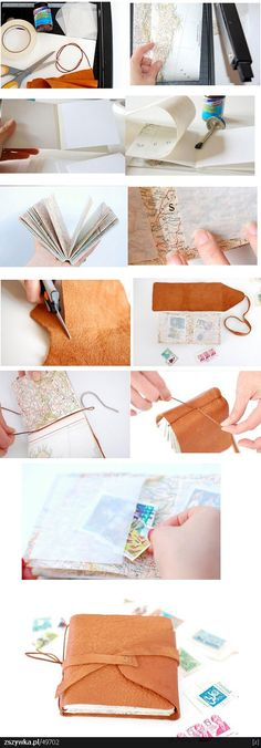 diy bound journal.