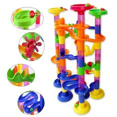 $32.76 - Awesome 105PCS DIY Construction Marble Race Run Maze Balls Pipeline Type Track Building Blocks Baby Educational Block Toy For Children - Buy it Now!