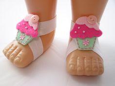 Yummy Cupcake Baby Barefoot Sandals