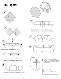Star Wars TIE Fighter Origami